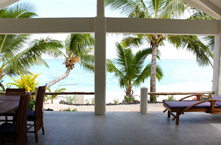 View of whitesandy beach from your villa